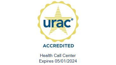 URAC accreditation seal Health Care Call Center