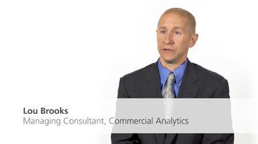 Lou Brooks, Managing Consultant, Commercial Analytics