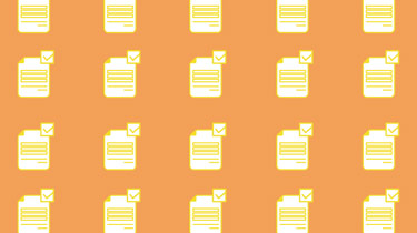20 document icons against an orange background