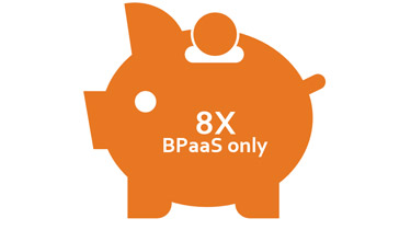 8 times BPaas only piggy bank
