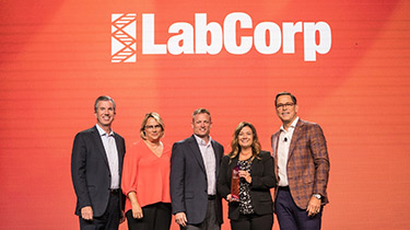 LabCorp receiving award